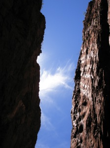 The sky from Standley Chasm, Northern Territory, Australia