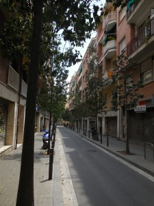 A supposedly quiet street in Sants