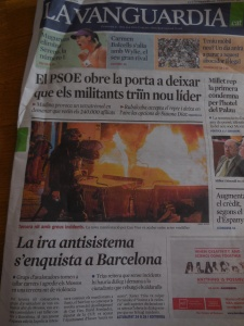 "Can Vies riots ""the anti-system/institutional anger takes over in Barcelona"""
