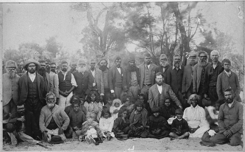 Noongar people with Fanny Balbuk